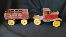 Vintage Girard Marx Pressed Steel Toy Truck Trailer