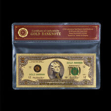 WR United States Two Dollar Bill U.S $2 Bank Note Gold Foil Banknote /w Free COA