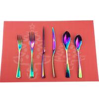 Rainbow 304 Stainless Steel Flatware Set Service Silverware Set,Service for 4