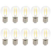 10x Retro 2W LED Filament Glühbirne Vintage Birne Dekorative Glühbirne Warmweiß