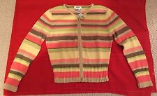 NWT Talbots Sweater Petites  Size 8  Zipper Front  Multi Color