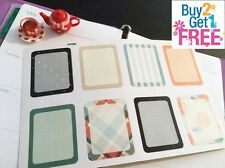 PP096-- Functional Box Life Planner Stickers for Erin Condren(8pcs) BUY2GET1FREE