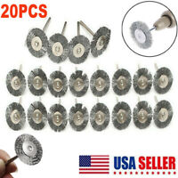 20X Stainless Steel Wire Brush For Dremel Rotary Tool die grinder removal wheel