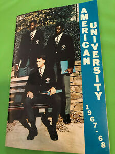 1967 1968 AMERICAN UNIVERSITY COLLEGE BASKETBALL MEDIA GUIDE EX -MINT
