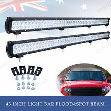 "2x Super Bright LED Light Bar 43"" Combo Beam Double Row Car Truck Boat Fog Lamp"