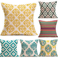 "17"" Boho Geometric Home Decorative Cotton Throw Square Pillow Case Cushion Cover"