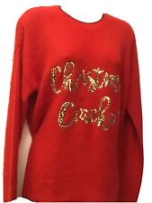 Size 10 Red Sequined Christmas Cracker Jumper BNWOT