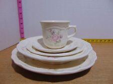 Pfaltzgraff Tea Rose Five Piece Place Setting Dinner Salad Cereal Saucer Mug