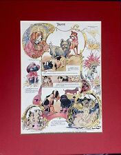 AMAZING ANTIQUE ART VERY RARE PRINT SIGNED BY MARK TWAIN'S ILLUSTRATOR DAN BEARD