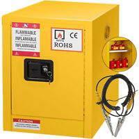 12 Gallon Yellow Safety Storage Cabinet Yellow for Flammable Liquid Steel GREAT
