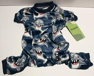 Fitwarm Lightweight Velvet Shark Dog Pajamas Jumpsuit SMALL BREEDS Size Medium