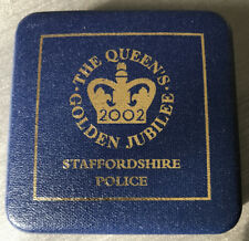 Queens Golden Jubilee Commemorative Coin/Medal Staffordshire Police MINT CASE