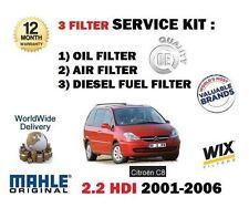 para CITROËN C8 2.2 HDi 3/2001-6/2006 Servicio Kit Aceite Aire Fuel (3) de
