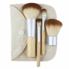 4Pcs Women BAMBOO Makeup Brush Kit Chic W/ Cosmetic Bag 5pcs Make Up Brushes US