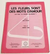 Partition vintage sheet music BO POTERAT / YVAIN : La Fausse Maitresse * 1972