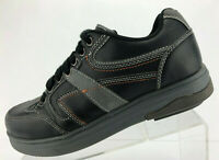 Gravity Defyer Comfort Fit Oxford Black Leather Casual Shoes Womens Size 8.5