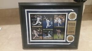 """Derek Jeter Highland Mint """"A Legend Among Us"""" With 2 Coins NY Yankees"""