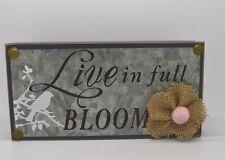 Wood Decoration Block Blue Bird Flower Live In Full Bloom #250