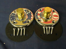 NEW Pair Unity 7005 Round Base's ONLY Chromed Brass W/ Hardware NEW
