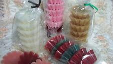12 - 6Pks LgTarts +13 Gingerbread Cookie Tarts+8 Rose Bud Votives-YOU PICK SCENT