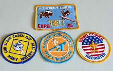 4 1970s BSA Boy Cub Scout Shoulder Patches VIKING Recruiter Many Waters FREE SH
