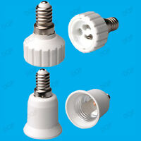 E14 SES to Either E27 or GU10 Light Bulb Lamp Socket Adaptor / Extender / Holder