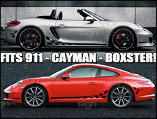 Porsche 911 Carrera Boxster Cayman GT GT3 RS Checkered Side Stripes