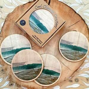 Tas Oak Wooden Coasters - Coastal