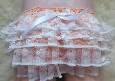 """🌸MADE TO ORDER """"SATIN Lace Ruffle Butt SISSY Knickers any colour, any size🌸"""