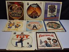 Vintage Lot of 8 Comedy CED Videodisc Movies Mel Brooks Pryer Belushi Aykroyd
