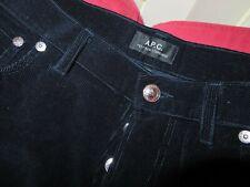 APC A.P.C Jean PETIT NEW STANDARD black velvet corduroy men's pants jeans-34 x34