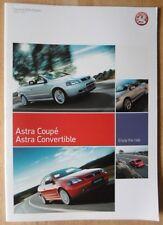 Vauxhall Astra Cabriolet & coupés 2004 UK MKT brochure de prestige-bertone