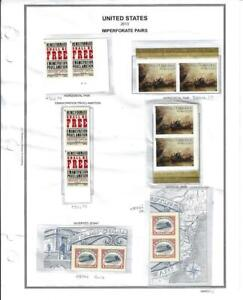 2013 IMPERF PAIRS INVERTED JENNY, EMANCIPATION, BATTLE OF ERIE LOT 959