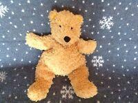 "JELLYCAT Beige Teddy bear Soft plush Comforter Bean filled Toy &12"" Tall"