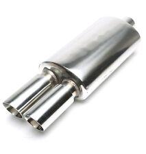 Tubo de escape deportivo, silenciador, Universal NUEVO, 2x 76mm Redondo