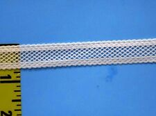 "Entredeux Stretch Lace Entredeux Elastic Trim 9/16"" 5/8"" White 5 yds #G6"