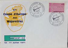 ENVELOPPE PREMIER JOUR - ANNEE 1971 - SAINT-DIE - COUPE D'EUROPE DES MAJORETTES