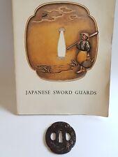 Antique Iron Tsuba Edo Era Japanese Sword Guard Samurai Katana Original Rare 07