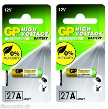 2 Pilas Gp 27a De 12 V De Alto Voltaje Alcalina batería Lr E - 2 Paquetes De 1