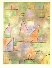 """Paul Klee Authentic Vintage Print 1972 """"Port and Sailing Boats"""""""