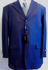 NWT Pedrini of Italy, Navy, 3 Button, Poly Rayon, 46-Long, Waist: 40 in (ST-109)
