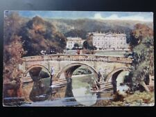 Derbyshire CHATSWORTH HOUSE c1905 Postcard by Davidson Bros No.7015