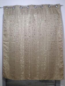 Golden Curtain stalks Leaves embroidery