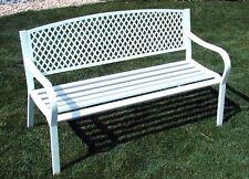 panca panchina da esterno giardino acciaio bianca - set giardino esterno divano