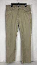 Peter Millar Crown Comfort Twill Five Pocket Golf Pants Gale Tan Size 36x33