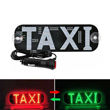 1Pc LED Taxi Roof Sign Light 12V Vehical Inside Windscreen Lamp Red + Green