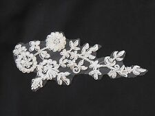 Ivory bridal wedding floral lace applique ivory tulle lace motif sold by piece