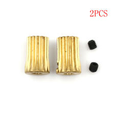 2 Pcs 3.17mm Shaft Motor Gear Pinion 13T for Trex T-Rex Helicopter Gold HICA