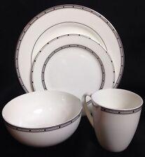 Gorham Studio Bone China 4 Pc Place Setting Dinner Salad Plate Bowl 12oz Mug New