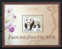 Tanzania 1998 MNH Fauna & Flora of World China Giant Panda 1v S/S Pandas Stamps